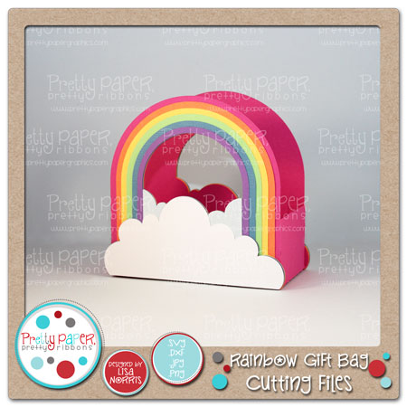 Rainbow Gift Bag Cutting Files