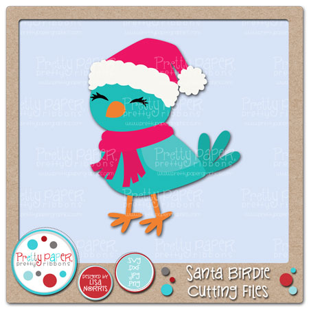 Santa Birdie Cutting Files