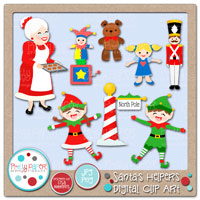 Santa's Helpers Digital Clip Art