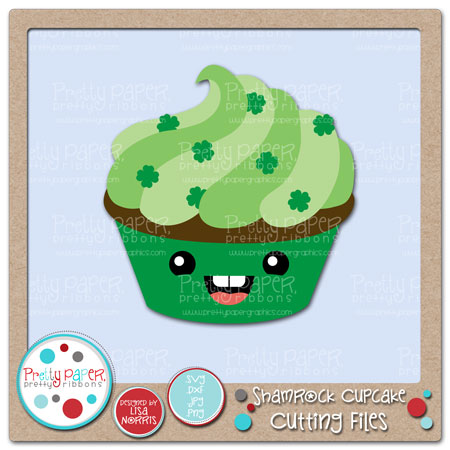 Shamrock Cupcake Cutting Files