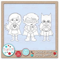 Sidekick Trio Digital Stamps