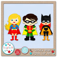 Sidekick Trio Digital Clip Art