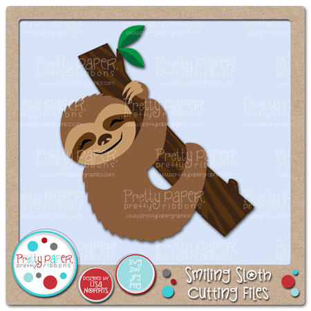 Smiling Sloth Cutting Files