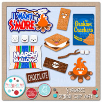 S'mores Digital Clip Art