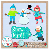 Snow Much Fun Digital Clip Art