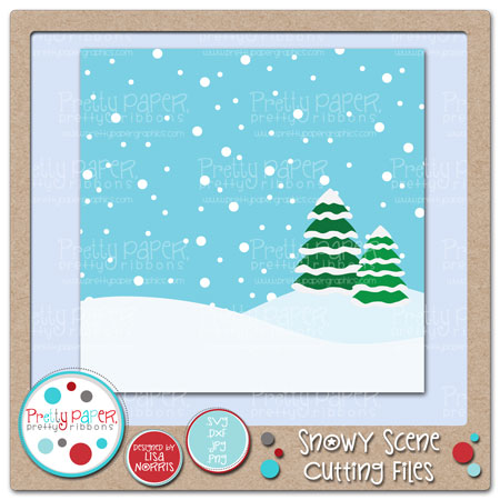 Snowy Scene Cutting Files