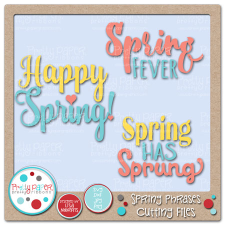 Spring Phrases Cutting Files