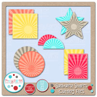 Sunburst Shapes Cutting Files