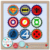 Superhero Badges Cutting Files