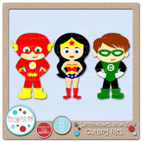 Superheroes Trio 2 Cutting Files