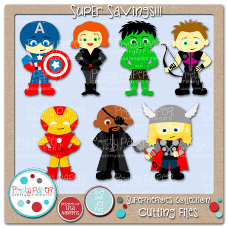 Superheroes Collection Cutting Files