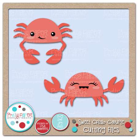 Sweet Crab Couple Cutting Files