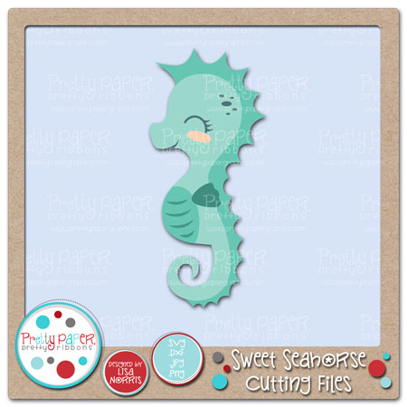 Sweet Seahorse Cutting Files
