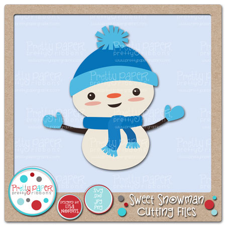 Sweet Snowman Cutting Files