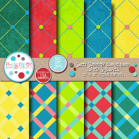Sweet Summer Tufted Squares