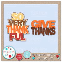 Thankful Titles 2 Cutting Files