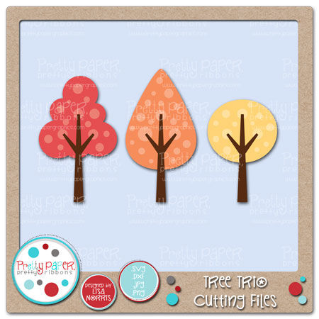 Tree Trio Cutting Files