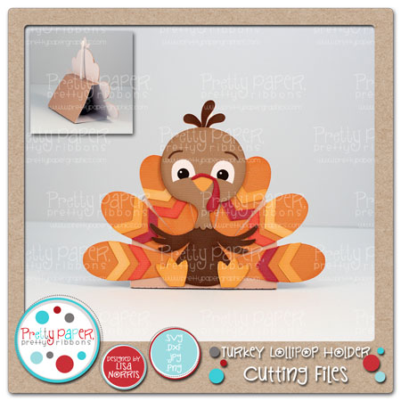 Turkey Lollipop Holder Cutting Files
