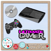 Ultimate Gamer Digital Clip Art