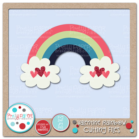 Valentine Rainbow Cutting Files