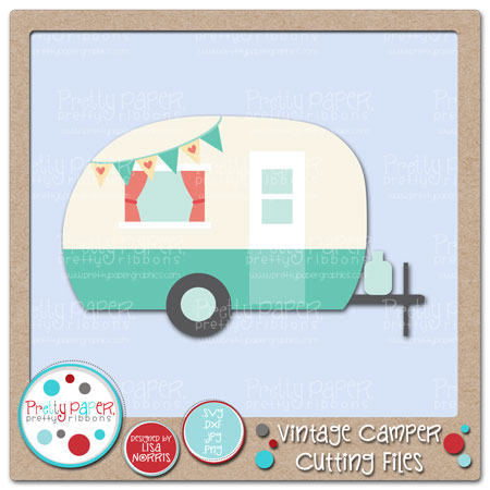 Vintage Camper Cutting Files