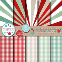Vintage Christmas Peppermint Gingham