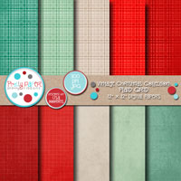 Vintage Christmas Plaid Grid