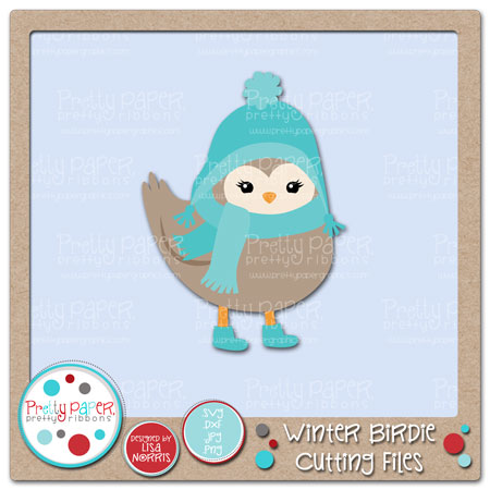 Winter Birdie Cutting Files