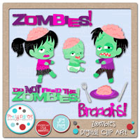 Zombies Digital Clip Art